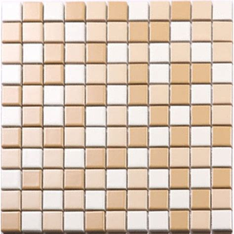 Penny Kitchen Backsplash Beige And White Porcelain Mosaic Glazed Tile Swimming Pool