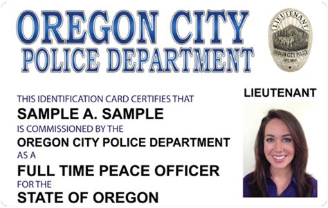 oregon id card template the and sheriffs press custom photo id card