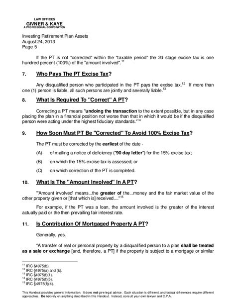 section 4975 of the internal revenue code investing retirement plan assets what are the limits