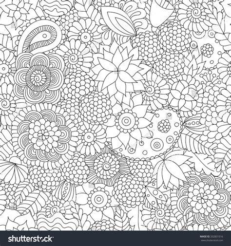 doodle flower patterns doodle flower pattern black white vector stock vektor