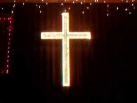 outdoor lighted cross lighted cross 1