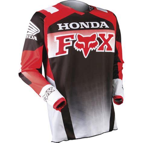 honda motocross jersey red 3 4 front