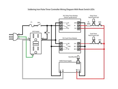 wiring an outlet to switch a timer wiring diagrams