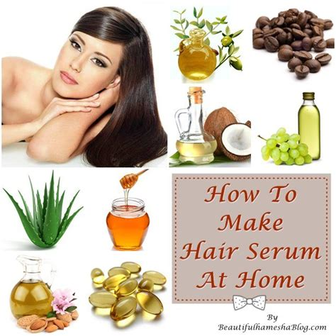 how to make hair serum at home
