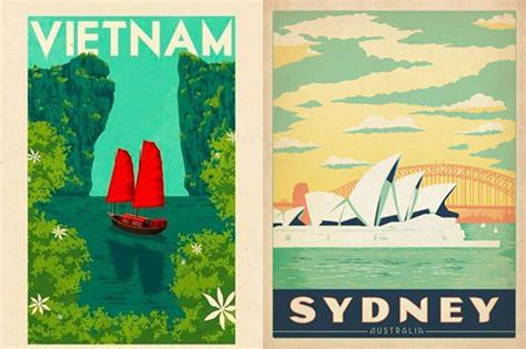 Living Designs by Vintage Travel Posters Hunting For George Community Journal