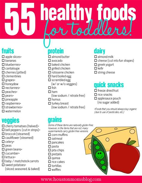 printable toddler menu 55 healthy foods for toddlers food for mini meeks