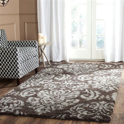safavieh florida shag sg460 area rug smoke beige price
