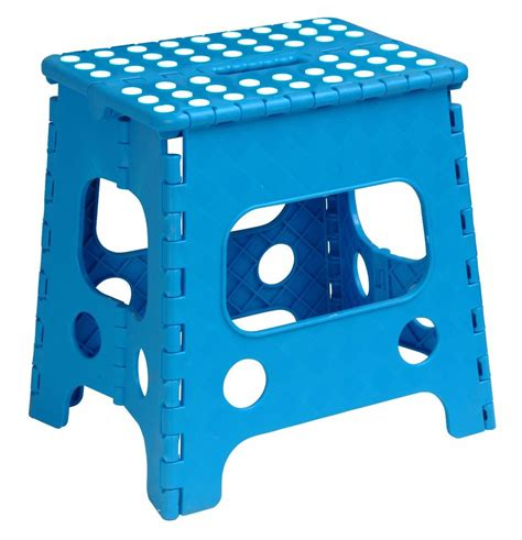 Folding Plastic Step Stool by Folding Plastic Step Stool 13 Inch Blue 255b Superior