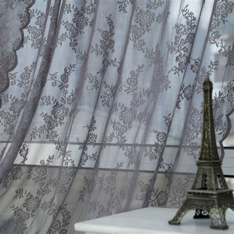 tulle curtain panel panel sheer voile window curtain panel drape room floral