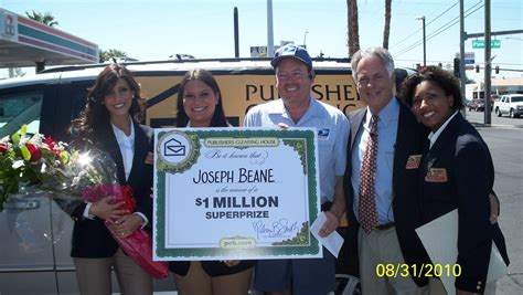 Sweepstakes Clearinghouse Products - publishers clearing house announces newest 1 million sweepstakes winner joe beane