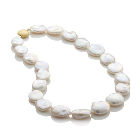 Signature Home Decor Gump S Baroque Flat Freshwater Pearl Necklace Gump S