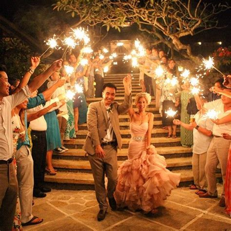 36 inch long wedding sparklers being used for an asian and