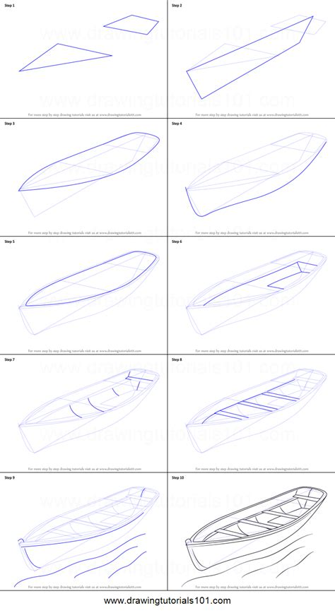 boat drawing tutorial how to draw a boat printable step by step drawing sheet
