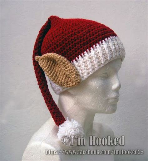 free pattern elf hat free crochet elf hat pattern christmas pinterest