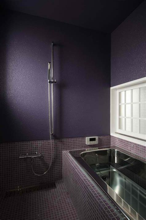 purple and black bathroom bathroom shower shelves stainless steel dark purple
