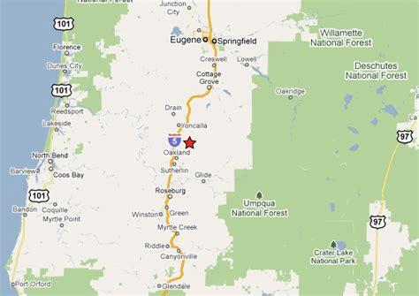 map of oakland oregon oakland oregon