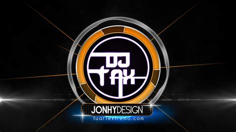 dj logo psd templates tutorial photoshop logotipo estilo dj