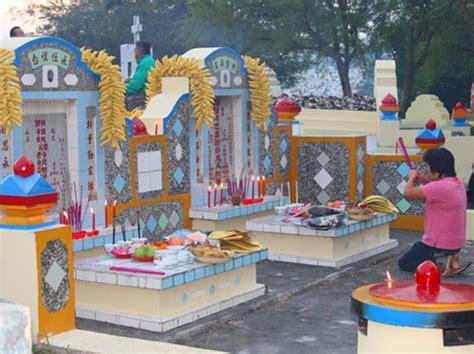 Patung Monyet Emas Memikul Buah Dewa Dan Membawa Uang Yen Pao cheng beng tradisi orang cina untuk memperingati leluhur