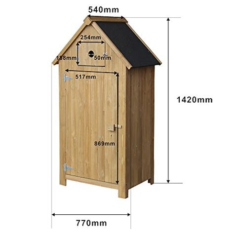 Slim Sheds by Slim Utility Shed Made Of Fir Wood With A Tar Roof