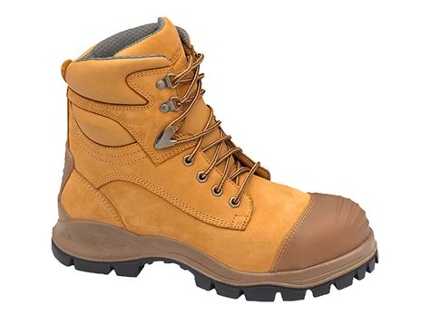 Boots Safety Shoes Kode Sc09 s or s wheat nubuck leather ankle high steel toe