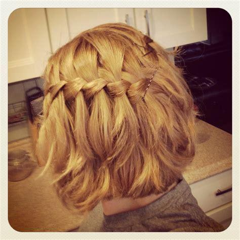 hairstyles for medium length hair braids waterfall braid medium length short hair honey blonde