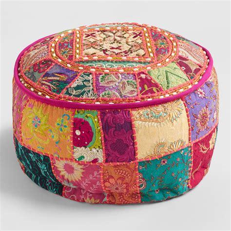 pouf ottoman market pink suti pouf market