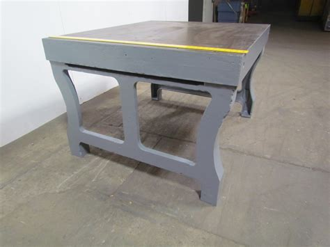 welders bench vintage steel welding layout work bench assembly inspect
