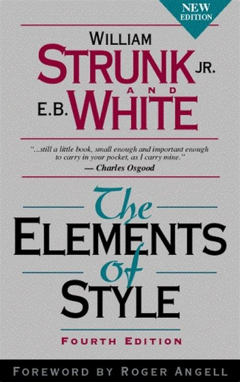 10 the elements of style by strunk and white 1 year