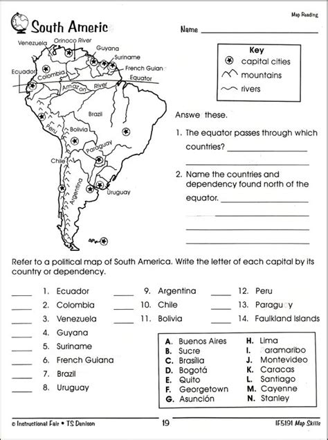 Free Map Skills Worksheets by Map Skills 4 001025 Details Rainbow Resource Center Inc