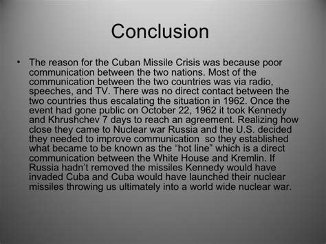 Cuban Missile Crisis Essay Conclusion by Cuban Missle Crisis Project