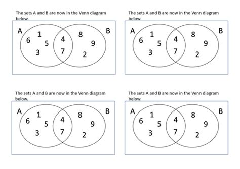 venn diagram set notation union and intersection worksheets resultinfos