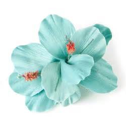 turquoise flowers turquoise hibiscus flower hair clip s accessories turquoise