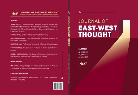 east of west volume 7 journal of east west thought