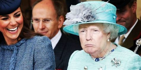 queen elizabeth donald trump someone photoshopped donald trump s face on queen