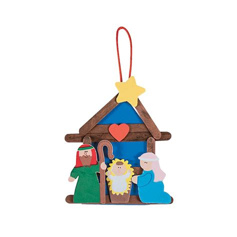 nativity craft stick religious christmas ornament craft