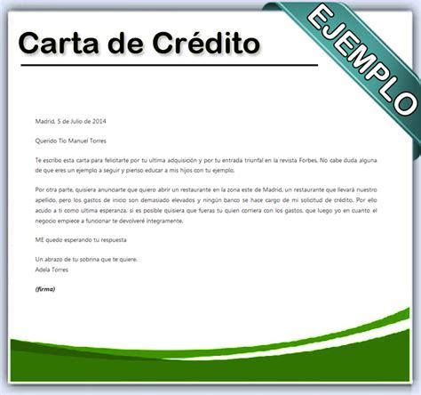 carta de consulta que es c 243 mo hacer una carta de cr 233 dito en word