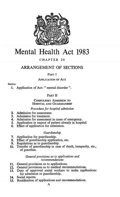 section 3 of the mental health act 1983 what are the mental health acts of 1983 and 2007 and what