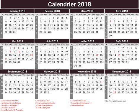 Calendrier 2018 Par Semaine Calendrier 2018 Semaine Newspictures Xyz