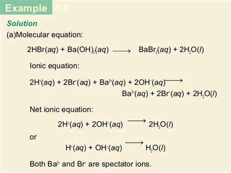 L Chemical Formula by Chapter 4 Reactions In Aqueous Solutions