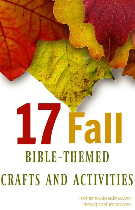 fall themed crafts for 17 fall themed bible based activities and crafts the