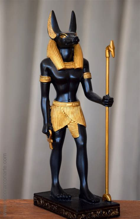imagenes egipcias de anubis figura de anubis dios de la muerte 22cm venta figuras