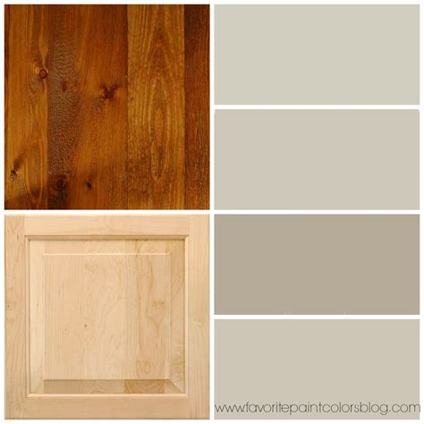 greige paint colors to go with wood trim and cabinets from top to bottom the paint colors are