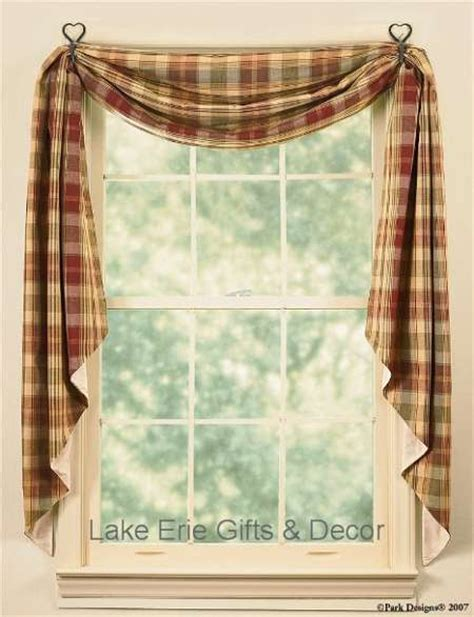 Country Valances And Swags country fishtail swag curtains