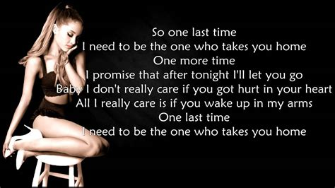 time testo grande one last time lyrics hd