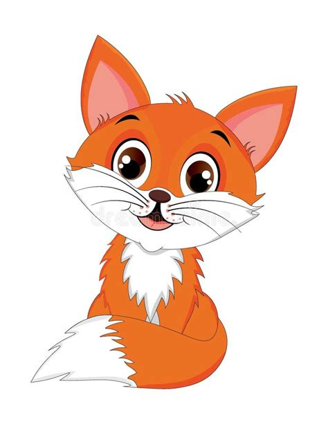 imagenes animadas zorro personaje de dibujos animados muy lindo del zorro rojo