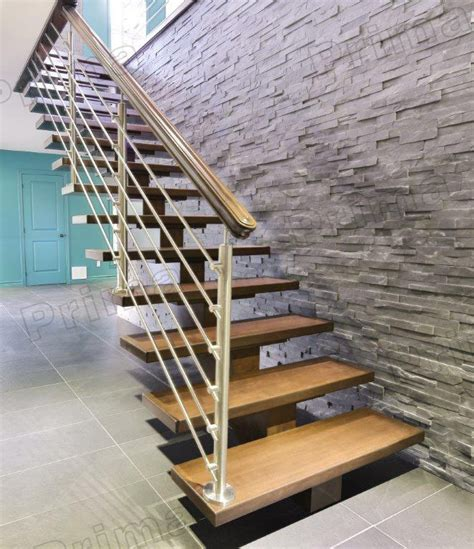 house design cable balustrade wood steps ladder view
