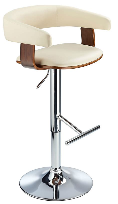 bar stools cream stallion bar stool cream walnut
