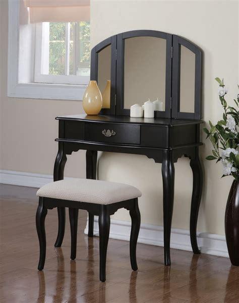 Black Vanity Table Set by Black Make Up Vanity Set Makeup