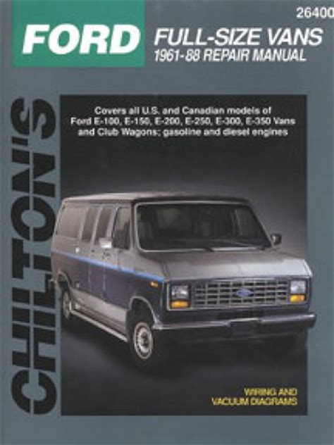 ford econoline van repair manual by chilton 1989 1996 chilton ford full size vans 1961 1988 repair manual