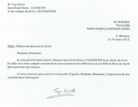 Lettre De Cloture Free Modele Lettre Cloture Compte La Banque Postale